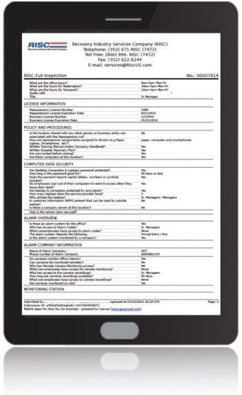 Onsite Inspection on ipad copy